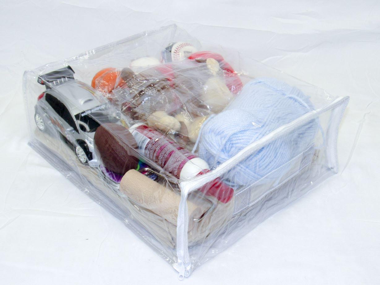 Heavy Duty Vinyl Zippered Storage Bags Clear 12 X 15 X 5