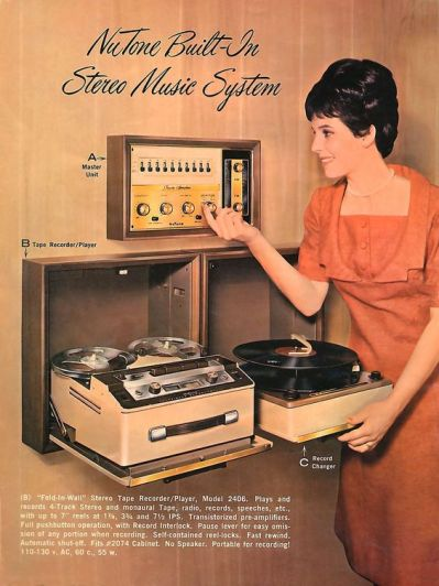 NuTone Built-In Stereo Music System