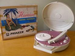 Pioneer Hawaiian Portable Record Player 1960's
