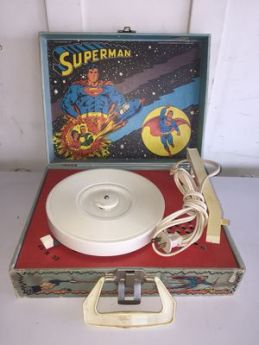 Vintage 1978 DC Comics Superman Portable LP Record Player