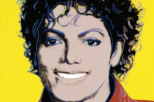 Michael Jackson by Andy Warhol. NPG