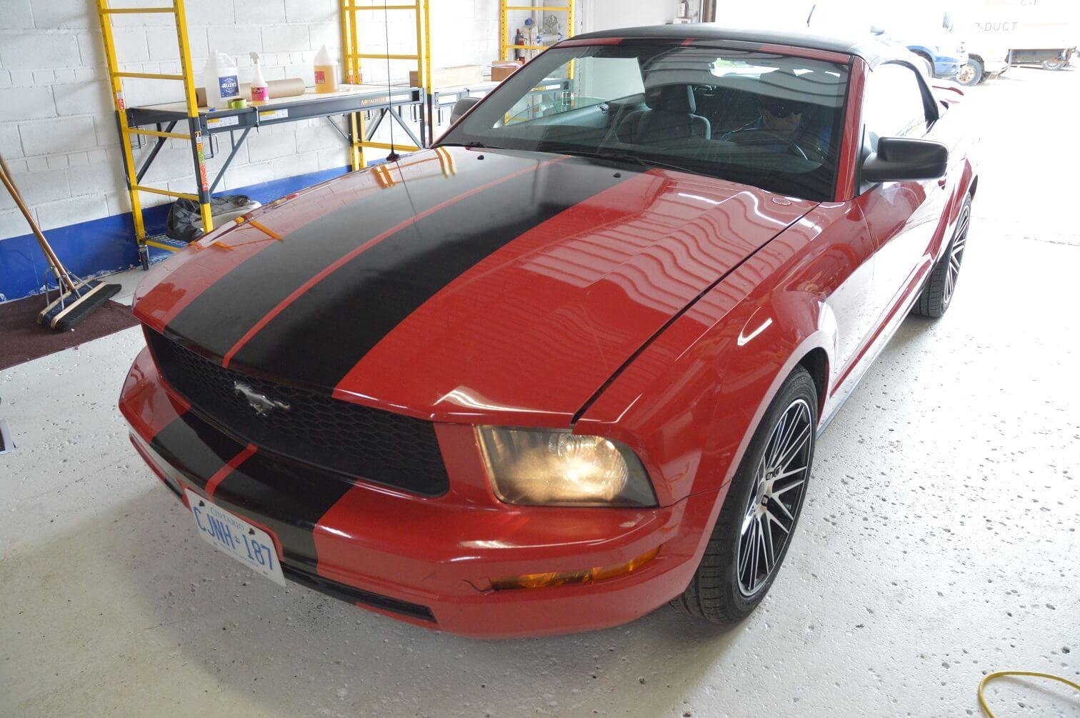 Car Wrap | Partial Car Wrap - Ford Mustang 2014 - Vinyl Wrap Toronto