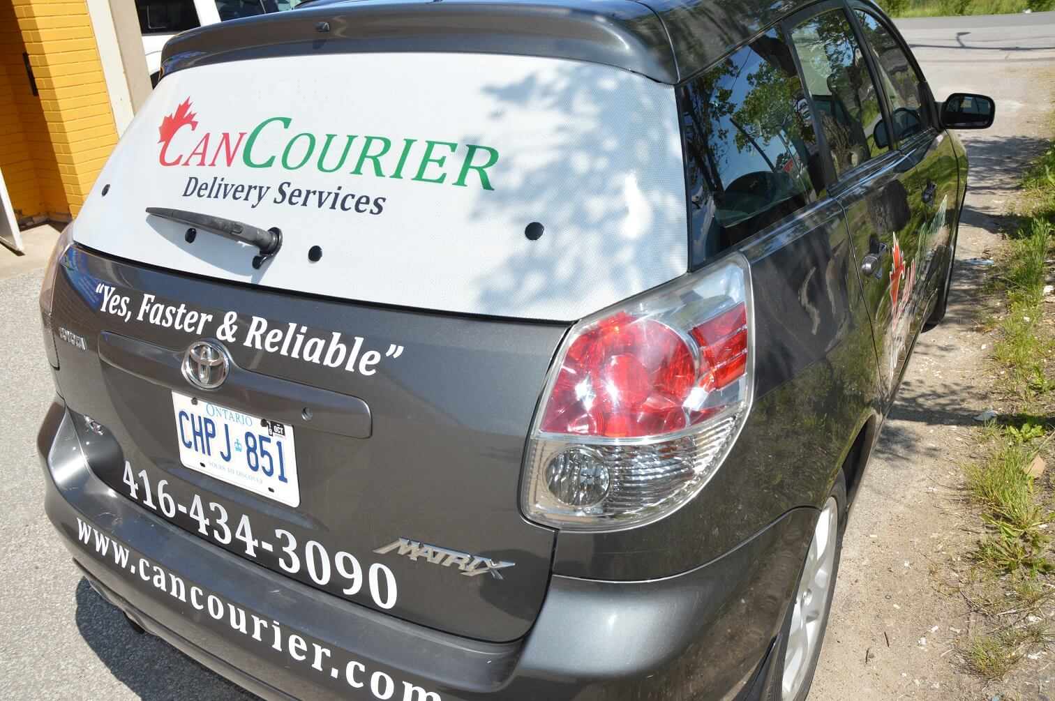 Car Decal | Can Courier- Back View