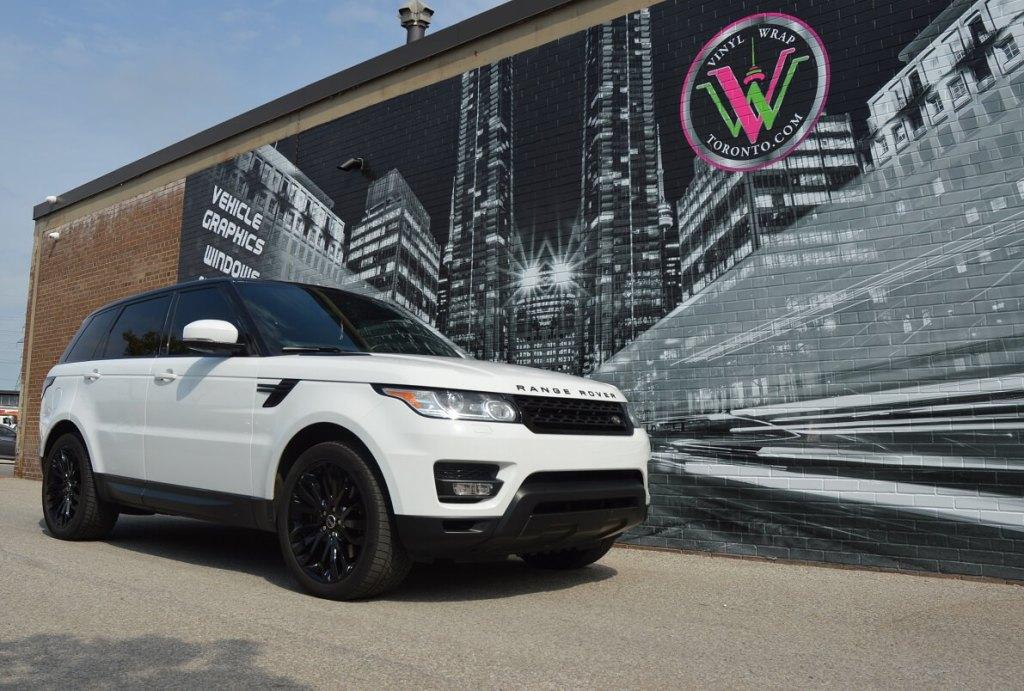 Range Rover Wrap Toronto, Satin Black Wrap, Avery Dennison Vinyl - Before