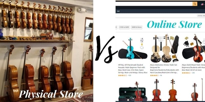 Where to buy a violin? Online vs. In-store.