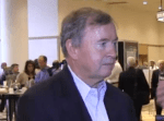 Ed Holleran of Atlantic Broadband is interviewed at the Indy Show.