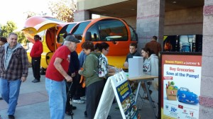 Raising awareness about the community playground with the Wienermobile.