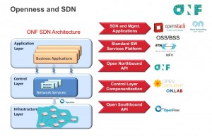 Ciena's slide regarding openness and SDN.