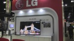 An example of an Ultra HD TV and associated STB on display at LG's booth at the 2014 Cable Show.