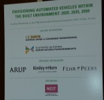 The sign that greeted attendees to the Autonomous Vehicle Workshop.