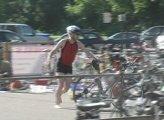 Roger Bindl running to swim or bike