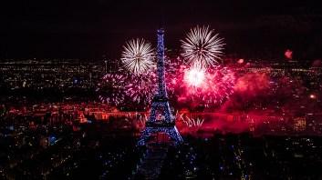 feu d'artifice du 14 juillet 2012 sur le sites de la Tour Eiffel
