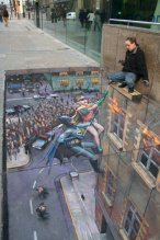 Superhero-chalk-art