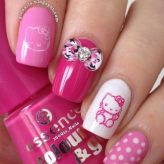 hello-kitty-pink-nail-designs-cute