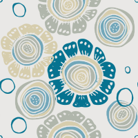 Baby Blu Seamless Pattern Set