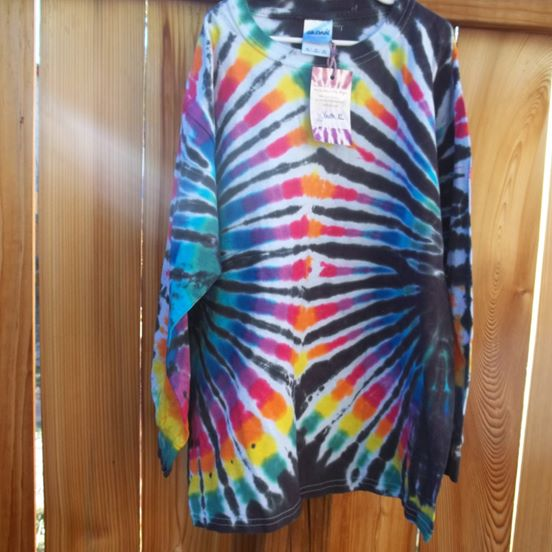 Kids Long Sleeve Tie Dye Shirts