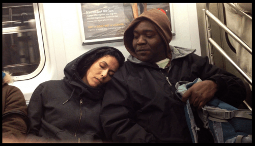 Snuggles on the subway
