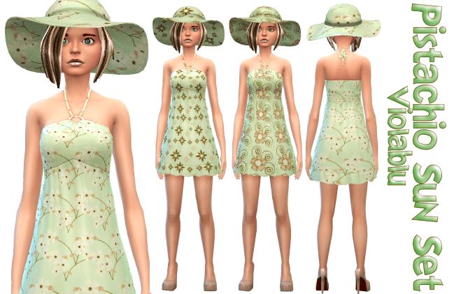 Pistachio Sun Set – 3 Sun Dresses and 3 Matching Sun Hats