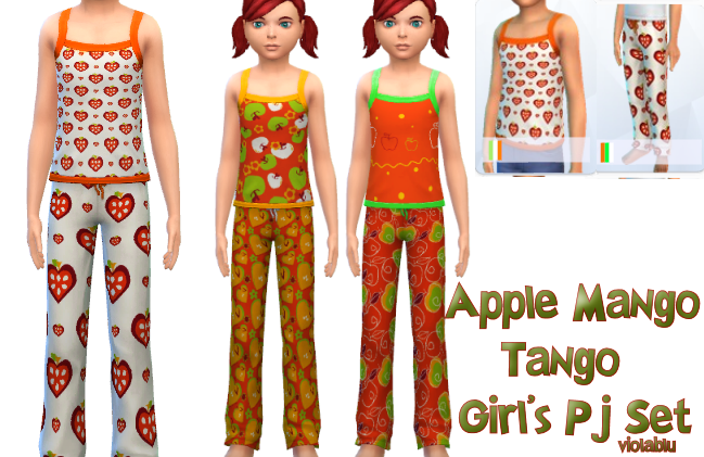 Apple Mango Tango Pj Set For Kids