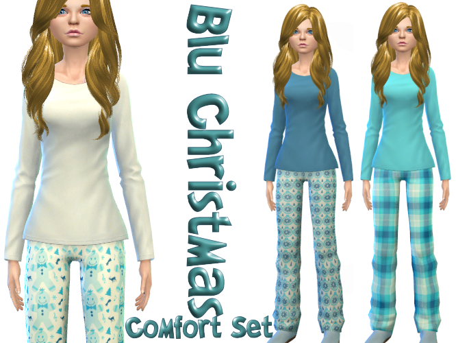 Blu Christmas Comfort set 3 patterns Mix and Match