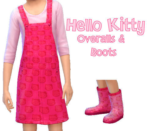 Hello Kitty Overall & Rain Boots