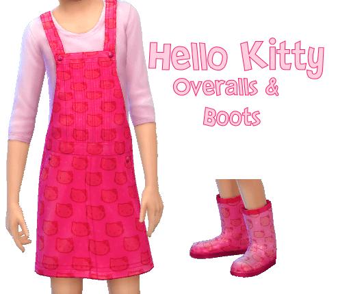 Hello Kitty Overall & Rain Boots