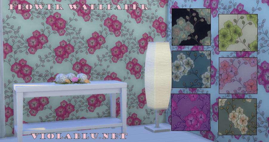 Pretty Blossom Wallpaper for Sims 4