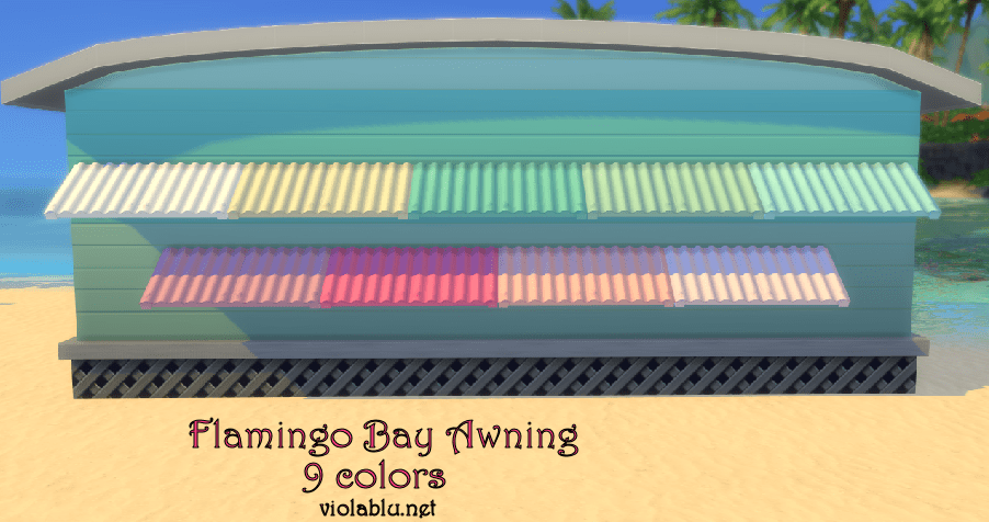 Flamingo Bay Awning for Sims 4