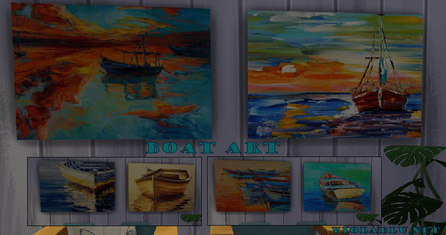 Boat Art for Sims 4