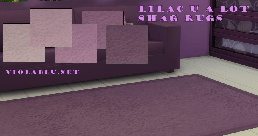 Lilac U A Lot Shag Rugs for Sims 4