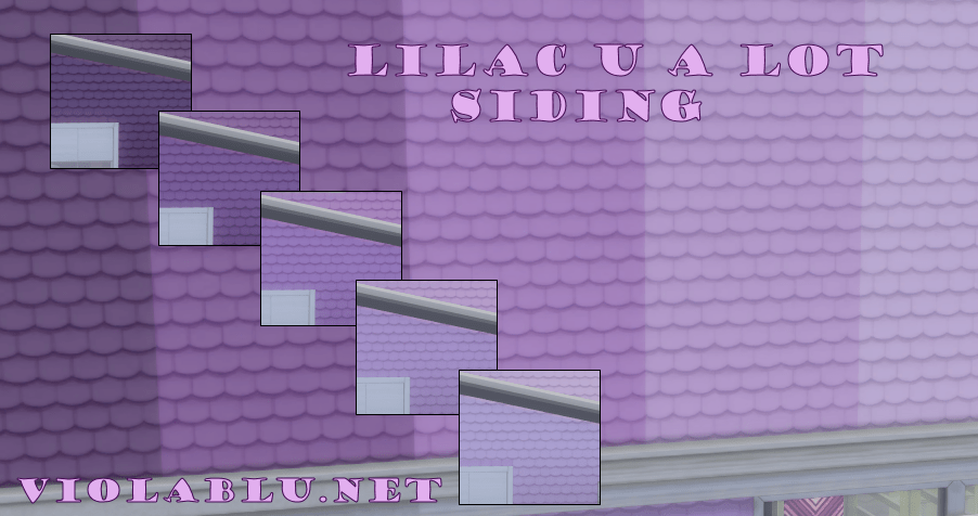 Lilac U A Lot Siding for Sims 4
