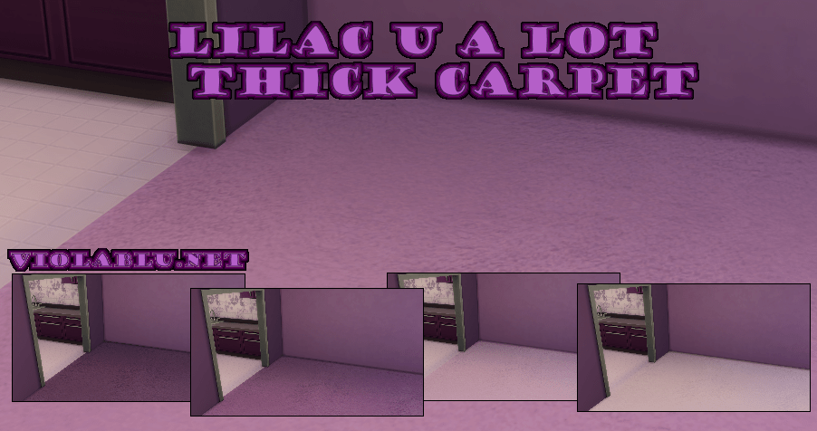 Lilac U A Lot Thick Carpet for Sims 4