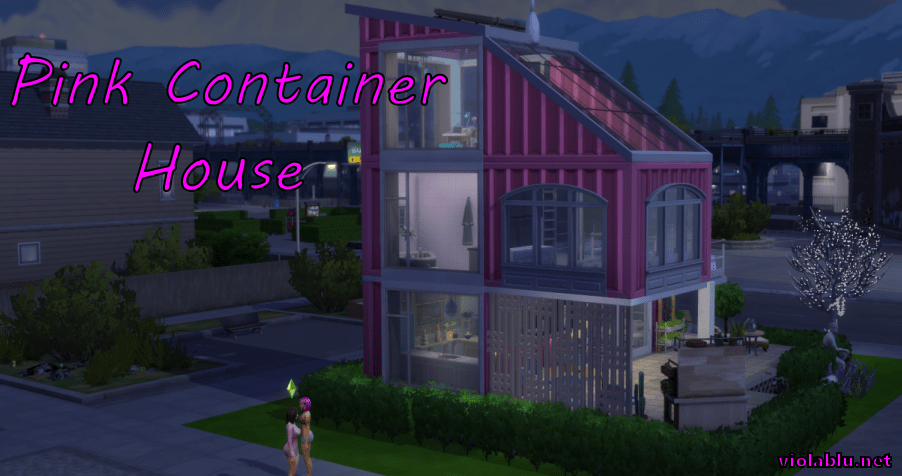 Pink Container House for Sims 4