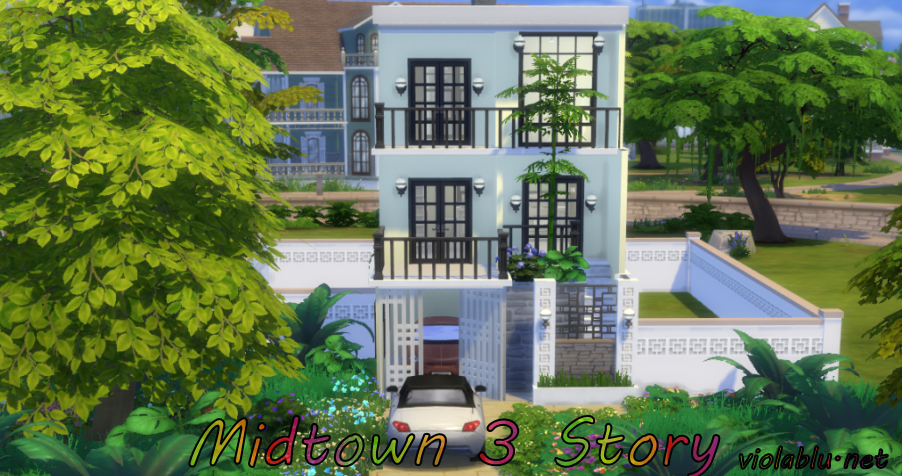 Midtown 3 Story for Sims 4