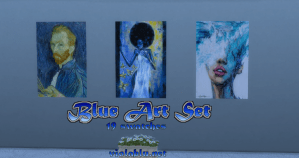 Blue Art Set for Sims 4