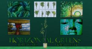 Horizontal Greens Art for Sims 4
