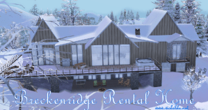 Breckenridge Point House for SIms 4