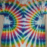 Large White Rainbow Tie Dye
