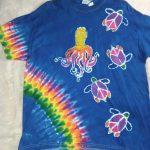 XL Blue Octopus Turtle Batik Tie Dye