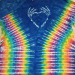 XL Blue Bone Heart Batik Tie Dye