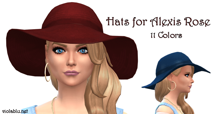 Hats for Alexis Rose, Sims 4