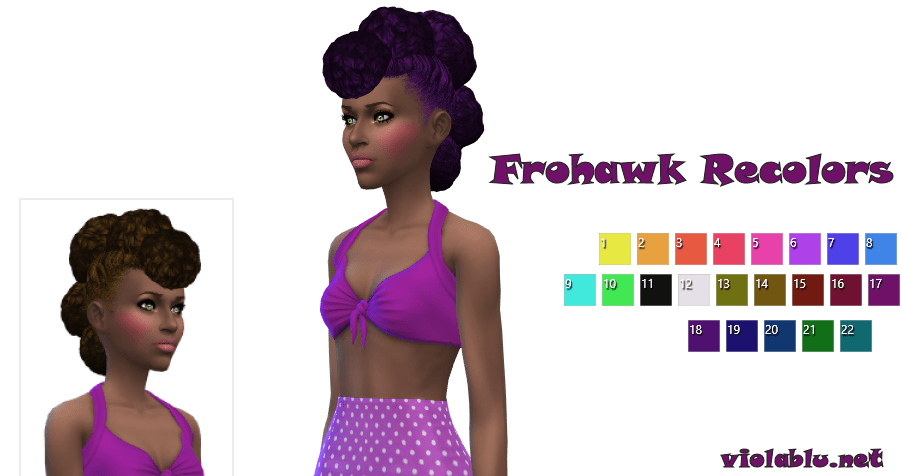 Frohawk Recolors For The Sims 4
