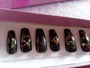 Small Black Constellation Press On Nails – Shop Violablu