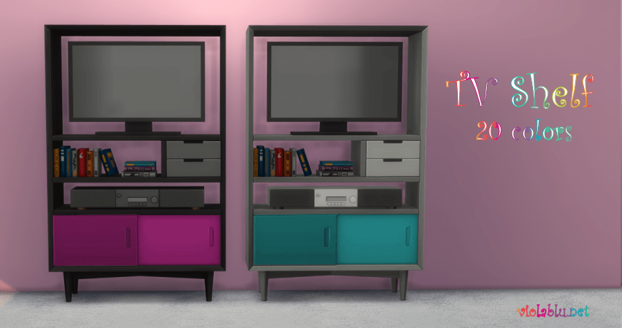 Viola's Tiny House Tv Shelf for Sims 4