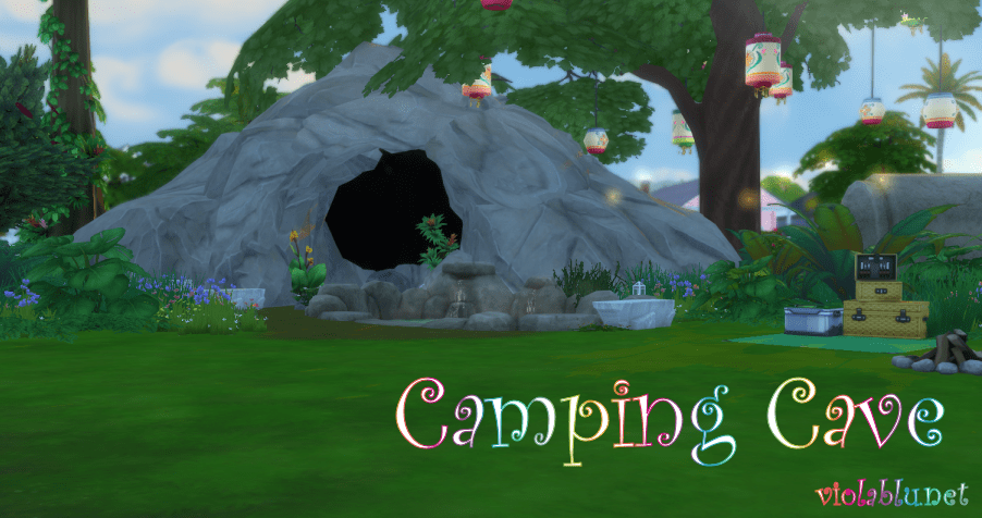 Cave Campsite for Sims 4