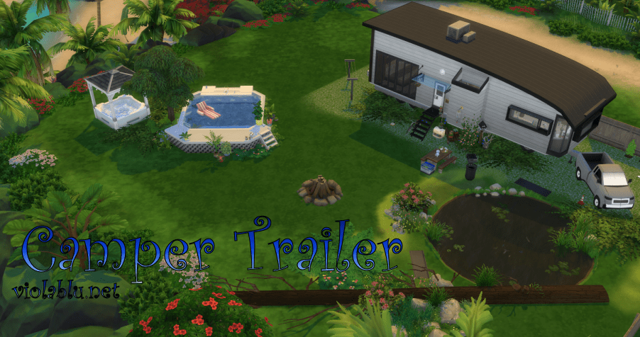 Camper Trailer for Sims 4
