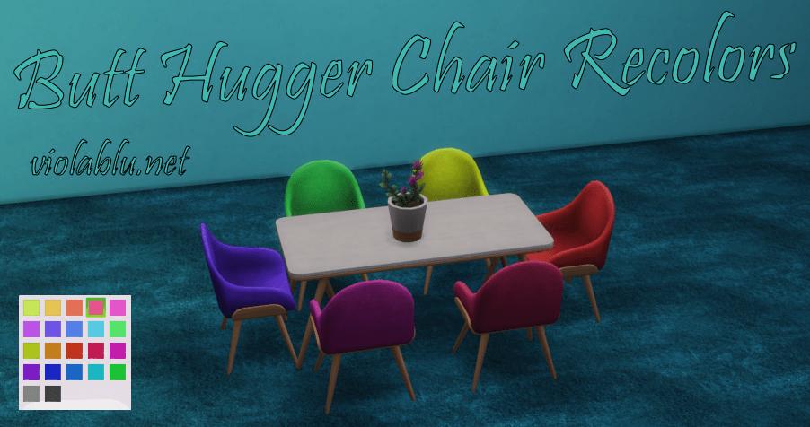 Butt Hugger Chair Recolors for Sims 4