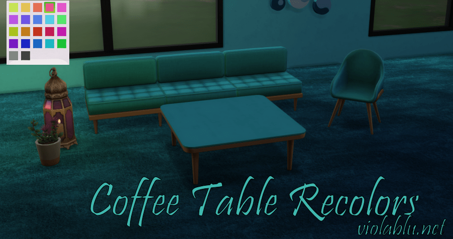 Coffee Table Recolors for Sims 4