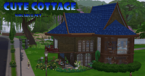 Cute Cottage for Sims 4