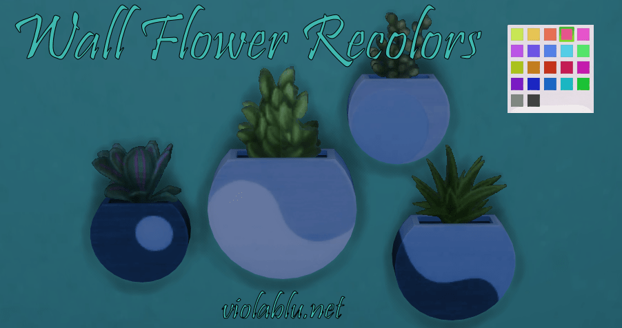 Wall Flowers Recolors for Sims 4